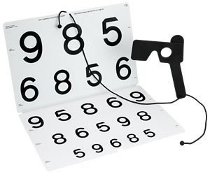 LEA NUMBERS® Chart for Vision Rehabilitation 1 m 52030