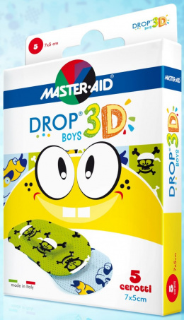 Plastry DROP 3D BOYS 70462