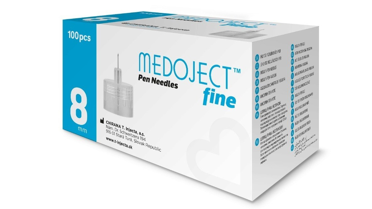 MEDOJECT 30G igły do penów 8 x 0,30 mm